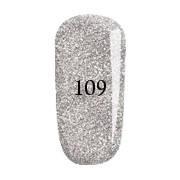 Гель-лак FOX Pigment № 109 (голографические серебряные блёстки),12 мл