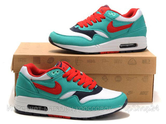 """Женские кроссовки Nike Air Max 87 """"Turquoise/Red/White"""""""