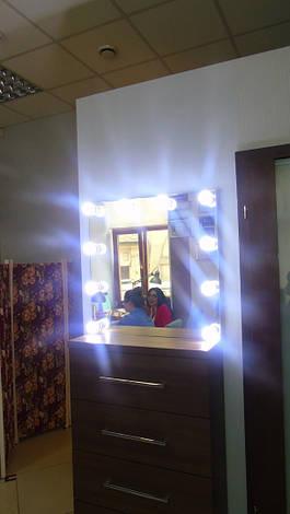 Зеркало с подсветкой, без рамы. Модель Beauty Light, фото 2