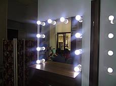 Зеркало с подсветкой, без рамы, для парикмахеров