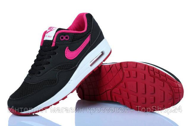 "Женские кроссовки Nike Air Max 87 ""Black/Pink/White"""
