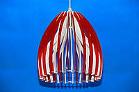 Люстра подвесная на 1 лампочку (ВЛ)  L29470/1 (RED+WT)
