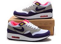 "Женские кроссовки  Nike Air Max 87 ""Grey/Purple/White"""