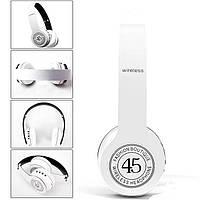 Наушники Bluetooth P45. Беспроводные - проводные стерео Bluetooth наушники гарнитура FM / SD карта. MP3