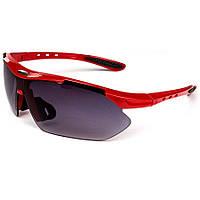 Велосипедные очки в красной оправе Oulaiou