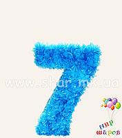 """Декоративная цифра """"7"""" ручной работы"""