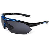 Велосипедные очки в черно-синей оправе Oulaiou