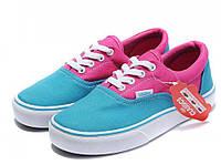 Кеды женские Vans Era Pink/Blue голубые/розовые