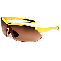 Велосипедные очки в желтой оправе Oulaiou