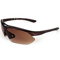Велосипедные очки коричневые Oulaiou
