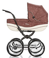 Детская Универсальная коляска Geoby Retro - с надувными колесами, москитка, дождевик Прованс