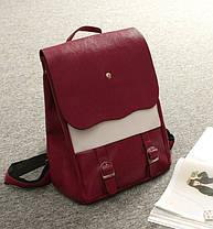 Оригинальный женский рюкзак со вставкой!, фото 3