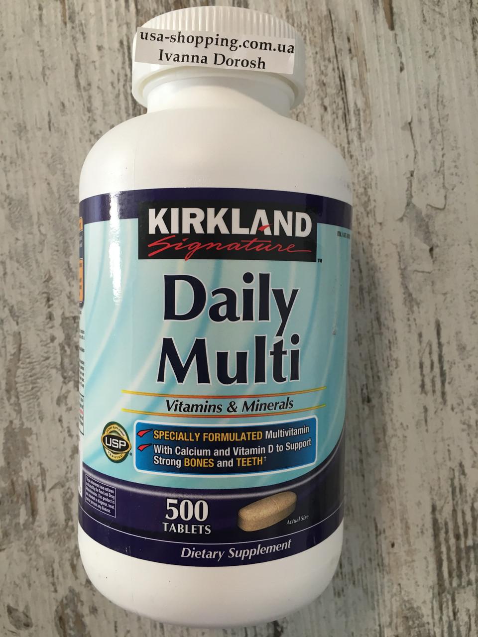 Витамины и менералы Kirkland Signature Daily Multi, 500 штук