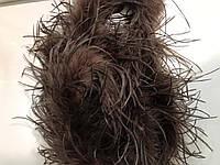 Боа страусинное двухслойное.Цвет коричневый. Длинна 1,8м