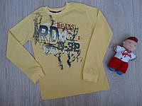 """Трикотажный реглан """"RD G-32"""" для мальчика желтый р.9-12 лет"""