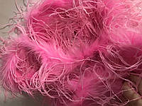 Боа страусинное двухслойное.Цвет малиновый. Длинна 1,8м