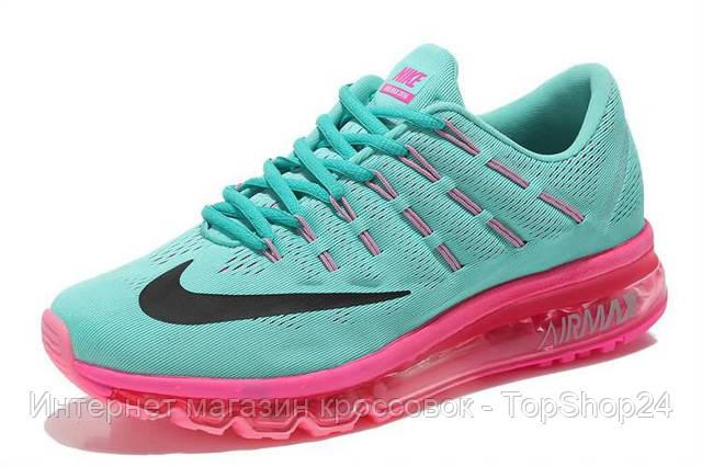 Женские кроссовки Nike Air Max 2016 бирюзовые