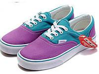 Кеды женские Vans Era Purple/Blue фиолетовые/голубые топ реплика