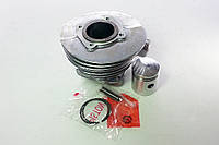 Цилиндр поршень кольца палец (ЦПГ) в сборе веломотор Д-8, фото 1