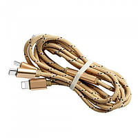 1 meter 3in1 USB Charging cable (Type C, Micro, Lightning)MX