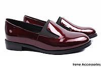 Модельные туфли женские Molared натуральная лаковая кожа, цвет бордо (стильные, каблук, комфорт)