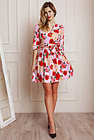 Красивое короткое платье из стрейчевого джинса