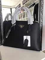 Элегантная сумка PRADA bag Saffiano medium черная