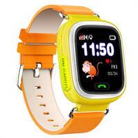 Детские умные смарт часы Smart Baby Watch Q100 с GPS оранжевые для девочек