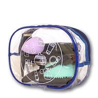 Прозрачная косметичка для бассейна/сауны/путешествий (синяя)