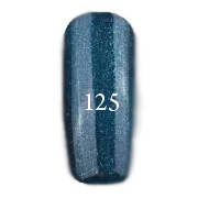 Гель-лак FOX Pigment № 125 (темно-синий с зелеными блестками) 12 мл