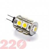 Светодиодна лампа 5050 G4 LE 2.0W 12В 9 SMD белая