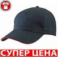 Кепка Сендвич Бейсболка тракер Цвет ЧЕРНЫЙ / КРАСНЫЙ mb6526