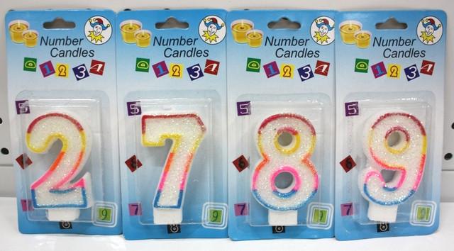 Теперь в продаже есть свечи в торт в виде цифр!