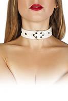 Ошейник Leather Restraints Collar, white