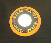 """LED панель Lemanso """"Грек"""" LM533 круг  3+3W жёлтая подсв. 350Lm 4500K 85-265V"""