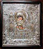 Икона в ризе Почаевская Пресвятая Богородица