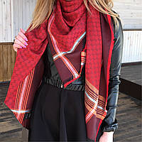 Платок шарф Gucci брендовый, шелковый аксессуар Гуччи