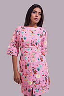 Женское платье с разноцветным принтом