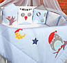 """Самый популярный комплект постельного белья для новорожденных """"Веселые Совушки"""" ТМ Куписон 12-ть бортиков + простынка + одеяло + наволочка"""