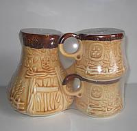 Набор кофейный Лаптики (турка + 2 чашки) в ассортименте