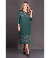 Нарядное платье большие размеры Пиастра р.54-60 изумруд