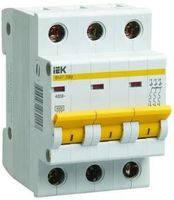 Трехполюсный автоматический выключатель ВА47-29 3P 3A 4,5кА IEK