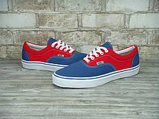 Кеды женские Vans Era Red/Blue красно-синие топ реплика, фото 3