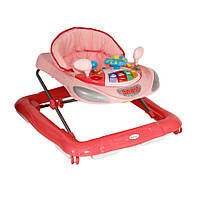 Современные ходунки W1224CE для детей (игрушки, музыкальная панель, регулировка высоты сиденья) ТМ Lorelli (Bertoni)