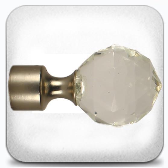 Кристал шар д.19мм сатин