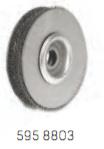 Круглая щетка из стальной проволоки,для механической обработки бороздок обрезиненых тросов