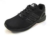 Кроссовки мужские  Adidas Zx Flux текстиль черные (р.41,42,43,44,45,46)