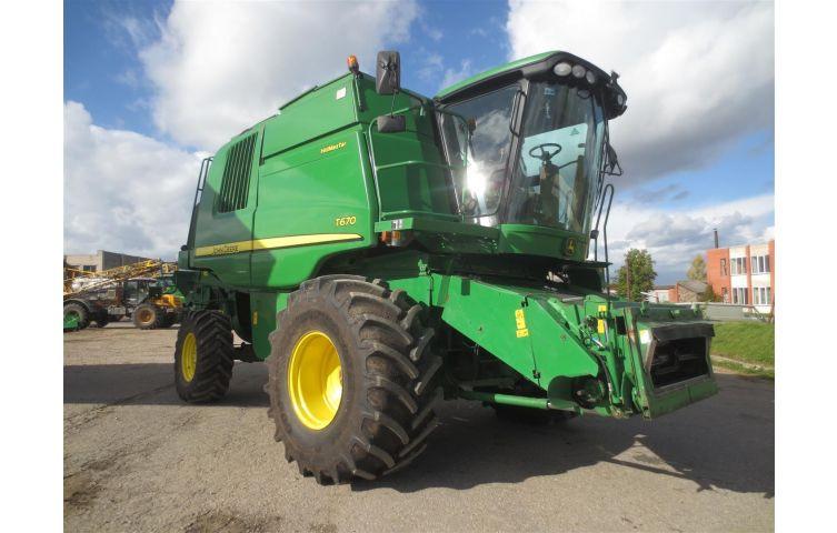 Купить комбайн зерноуборочный JOHN DEERE T670 HM, 2008 г