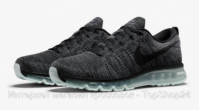 "Кроссовки Nike Air Max 2016 Flyknit ""Dark Grey/Black"""