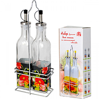Набор бутылок для растительного масла 2пр. на металлической стойке 250мл. Мак ST 702